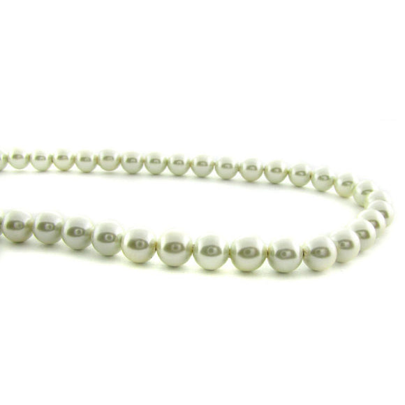 6mm Magnetic Pearl Ivory Round MP44