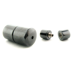 Non-Magnetic Set Of 10 Hematite 7mm Barrel Screw Clasp NMC01