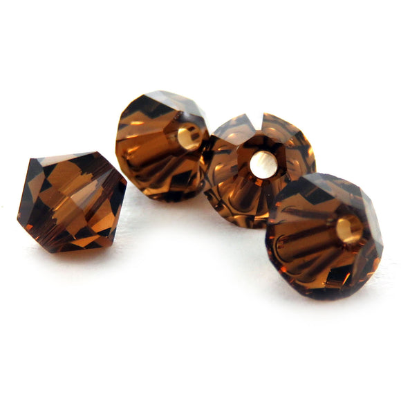 4mm Swarovski Crystals Smoked Topaz S4C37
