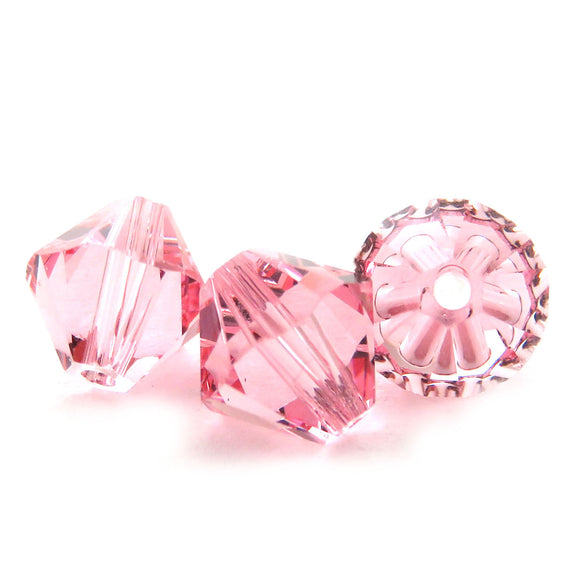 6mm Swarovski Crystals Light Rose S6C09