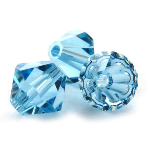 6mm Swarovski Crystals Aquamarine S6C20
