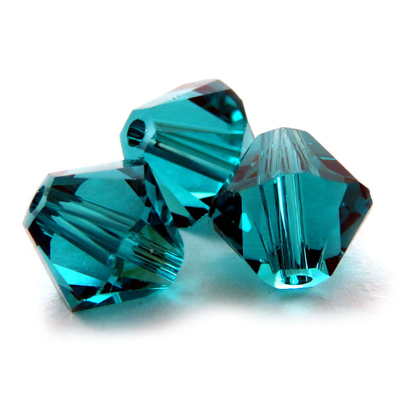 6mm Swarovski Crystals Blue Zircon S6C22