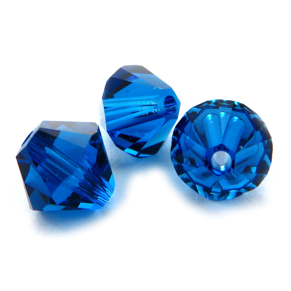 6mm Swarovski Crystals Capri Blue S6C23