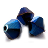 6mm Swarovski Crystals Metallic Blue 2X S6C29