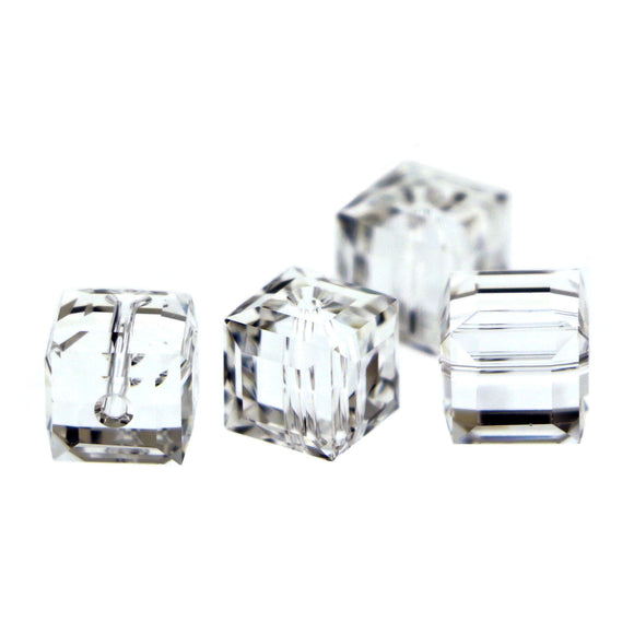 8mm Swarovski Crystal Cubes Clear S8CB01