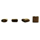 10X10mm Magnetic Bronze Pillow 2-Hole Spacer 50Pc SPMG33