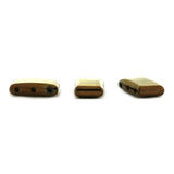5X17X10mm Bronze Magnetic Spacer 3-Hole Thin Pillow 50Pc SPMG36
