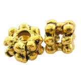 Metal Spacer Antique Goldplate Wide Daisy SPMT09