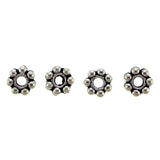 4mm Metal Spacer Silverplate Thin Daisy SPMT13