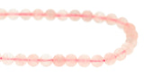 6mm Gemstone Rounds Rose Quartz Gr03 - Mi Amore