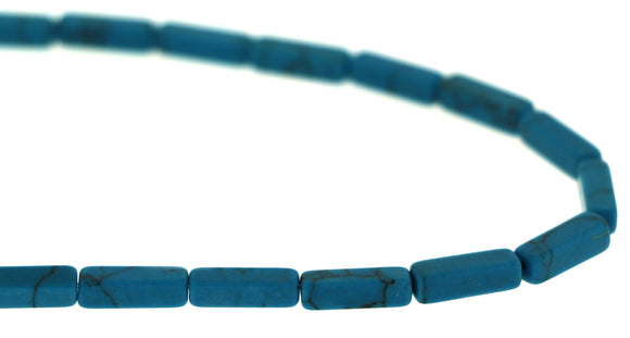 Gemstone Rectangle Turquoise Beads 4x13mm Grb01