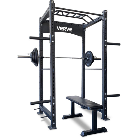 Commercial Power Rack Package - with Power Bar