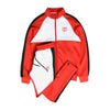 Just Train Shield Jumpsuit - Red/White
