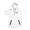 JT Stamp White Short Sleeve Hoodie