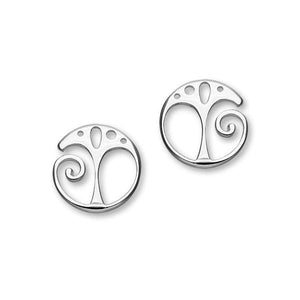 Tree of Life Silver Earrings E1538