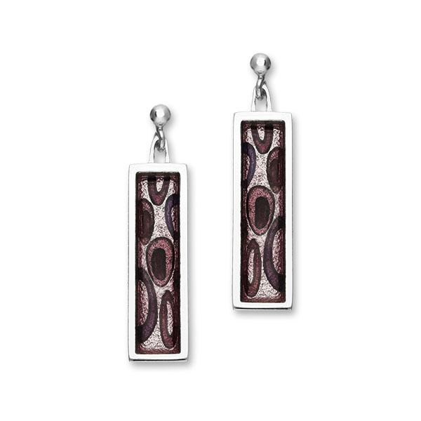 Rockpool Silver Enamel Earrings EE546