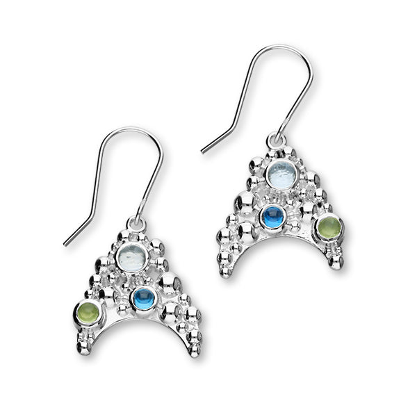 Seafoam Silver Stone Drop Earrings FCE 5