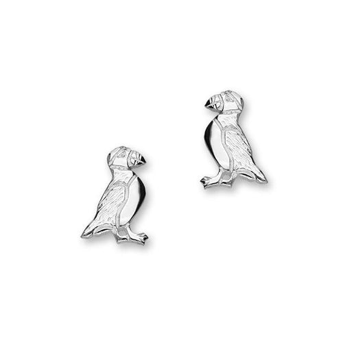 Puffin Small Silver Earrings FE 16