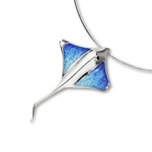 Ray Enamelled Silver Pendant FEP 2 - W