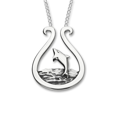 Dolphin Silver Necklet FN 8