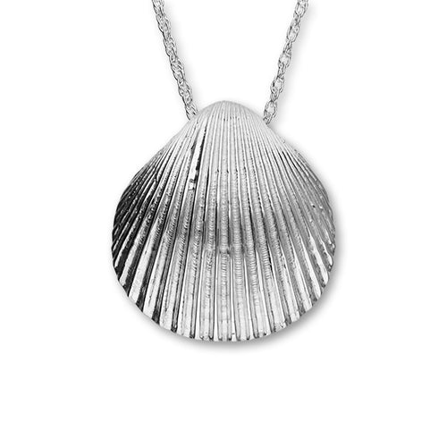 Cockle Shell Large Silver Pendant FP 40