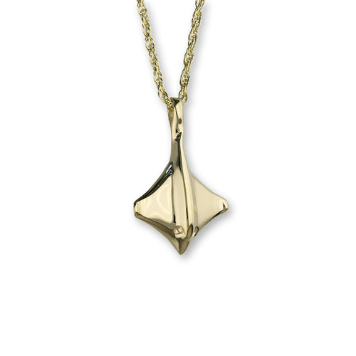 Small Stingray 9ct Gold Pendant - GFP 37-P