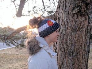 Colorado Beanie with pony tail hole