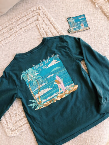 Nomad Youth Delta Wave Long Sleeve Tee