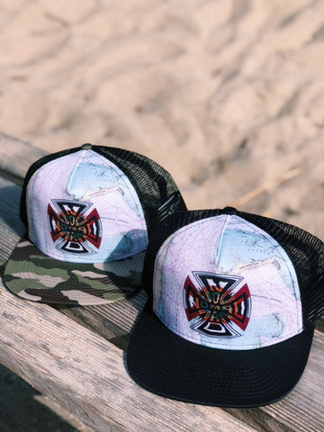 Nomad Iron Cross Nautical Map Trucker