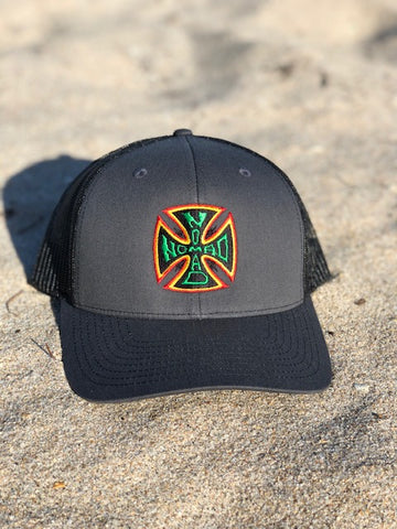 Nomad Rasta Iron Cross Adjustable mesh back