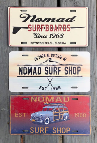 Nomad Licenses Plate