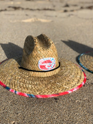 Nomad Tye Die Ruby Red Straw Hat