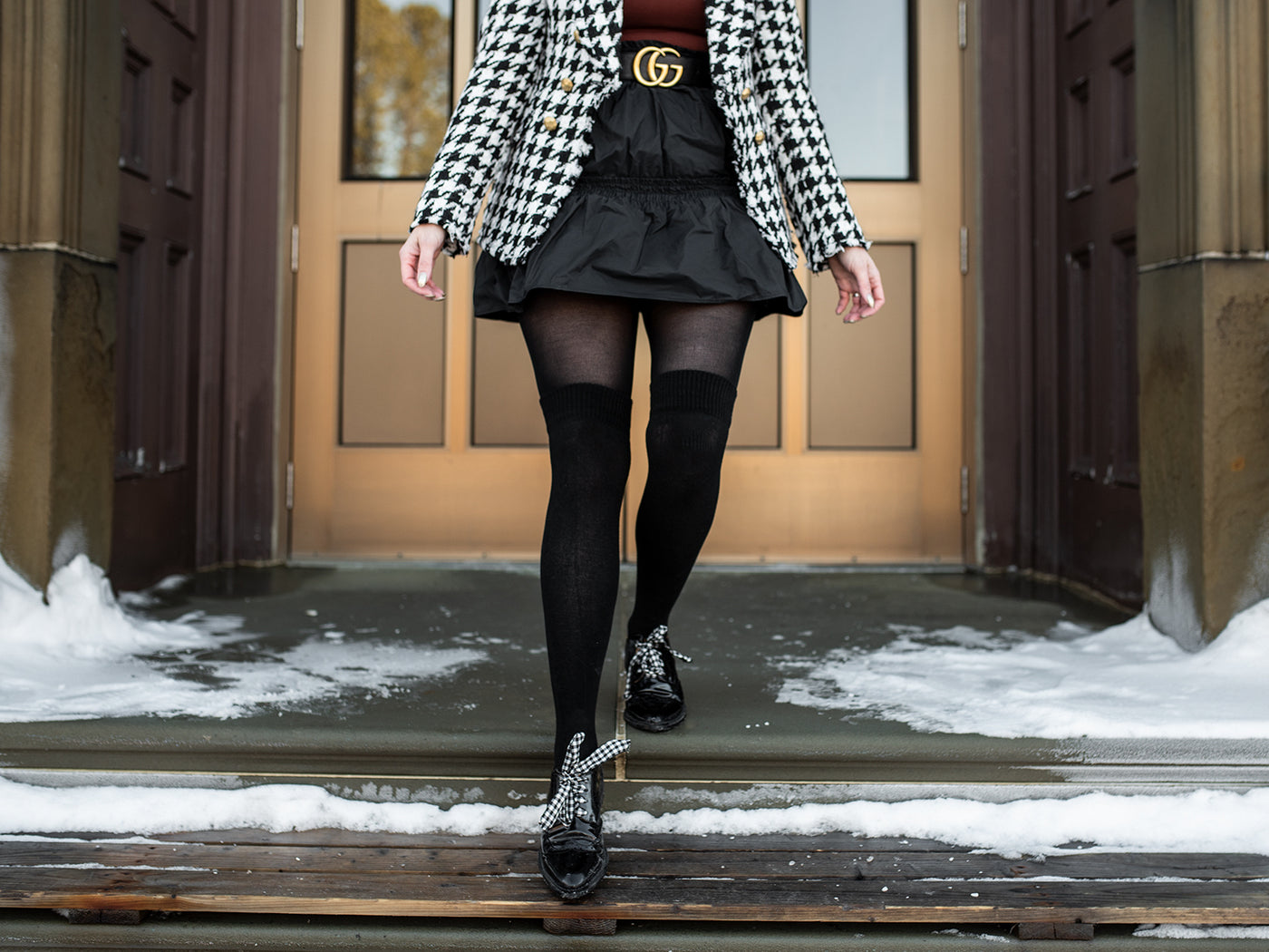 winter dresses with tights