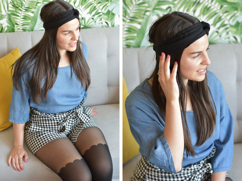 How to Turn your Ripped Tights Into a Chic Headband