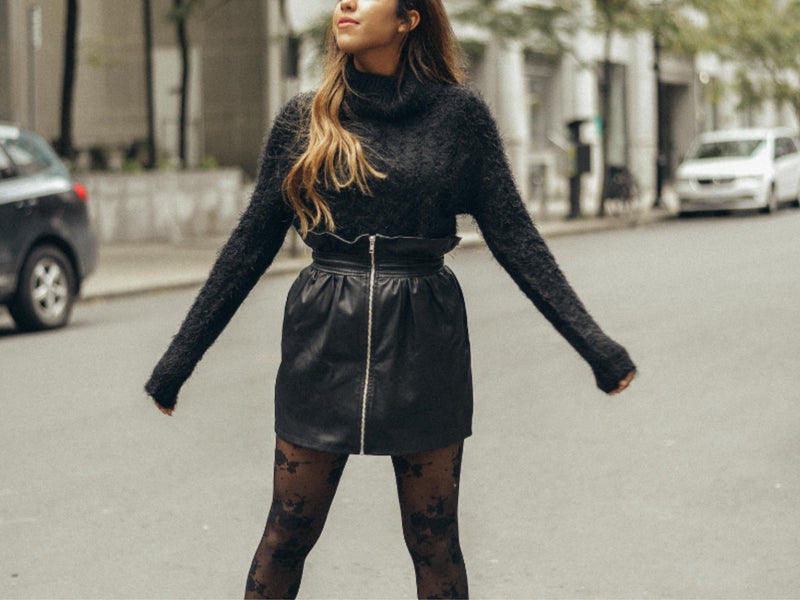 3 Effortless Ways to Wear a Leather Skirt