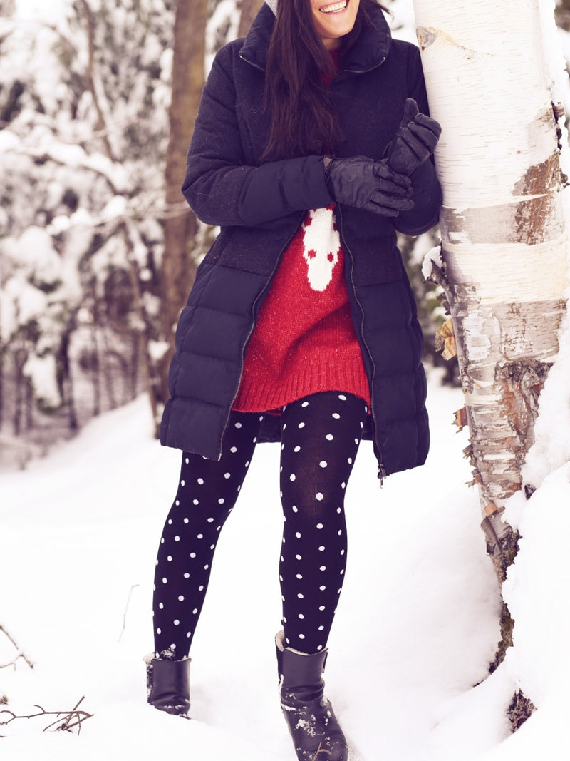 Dot warm tights