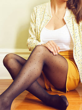 Casual style - micro dot tights