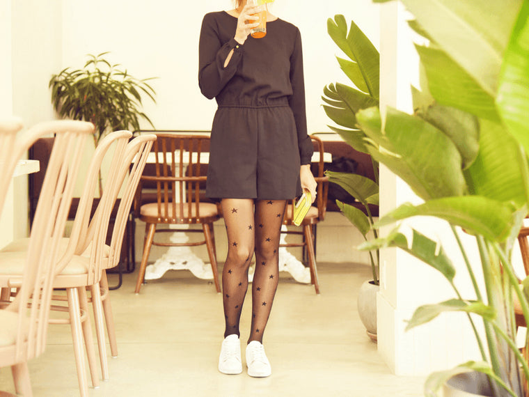Create an outfit like a stylist with tights