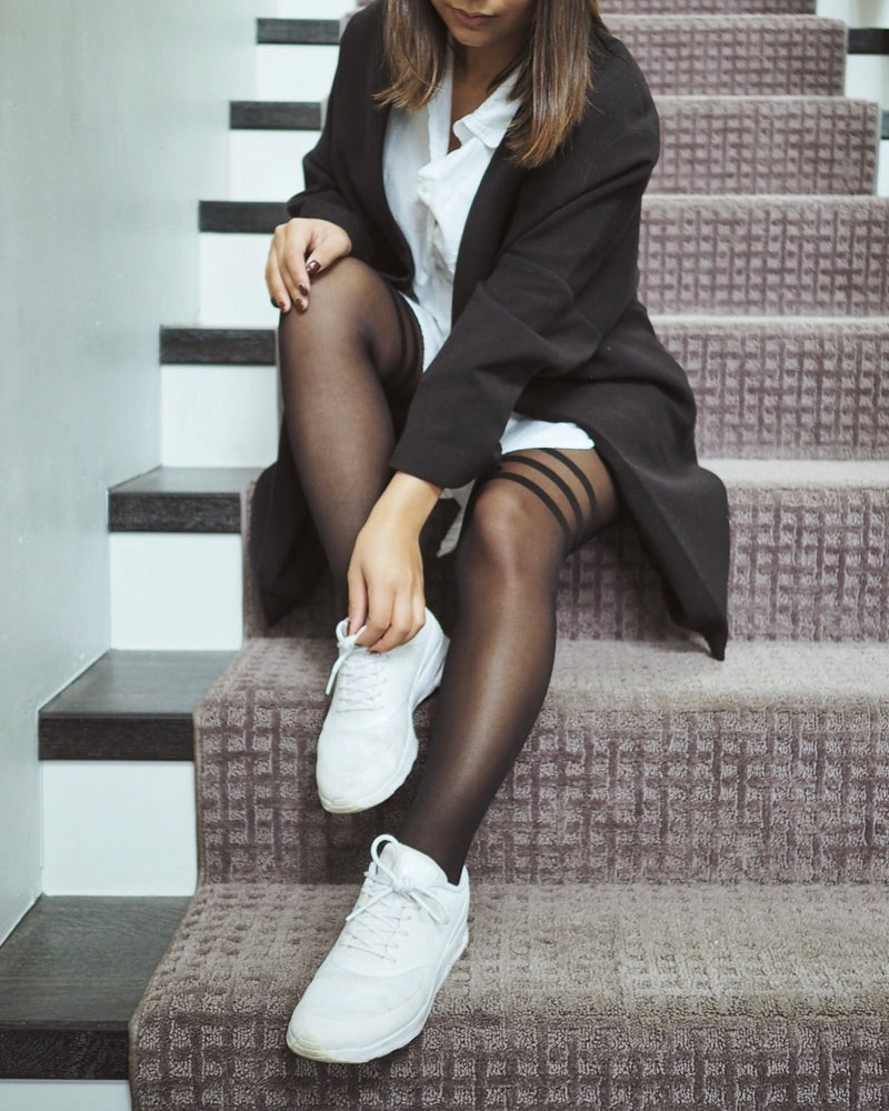 5 Sneaker Styles To Wear With Tights From Rachel