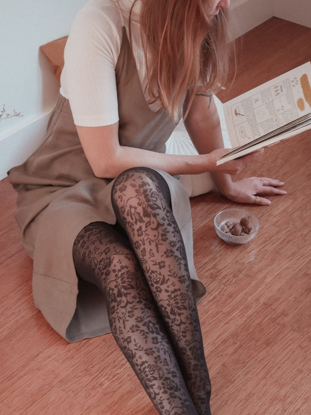 Floral Lace Tights