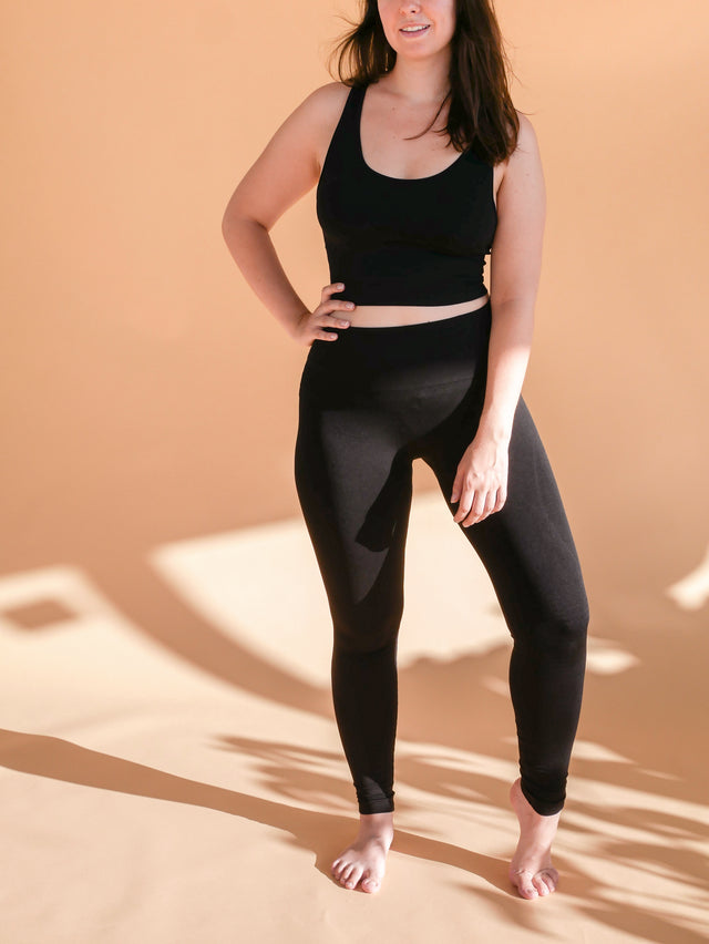 Black High-Rise Yoga Leggings