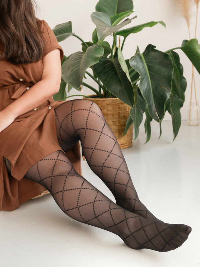 Eco Dotted Diamond Tights
