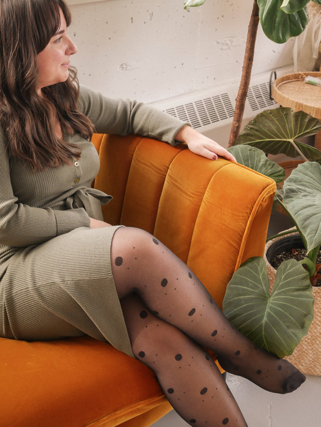 Eco Mixed Dot Tights