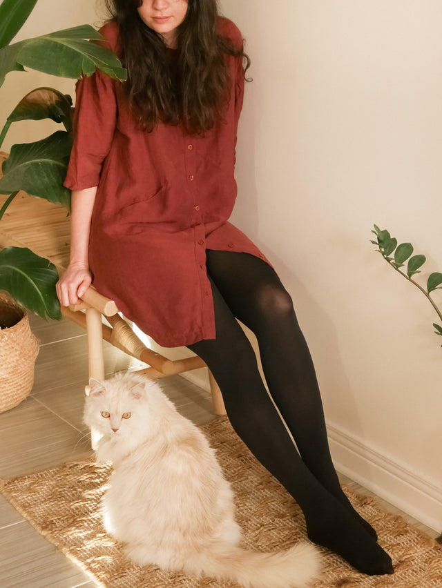 Black Eco Opaque Tights