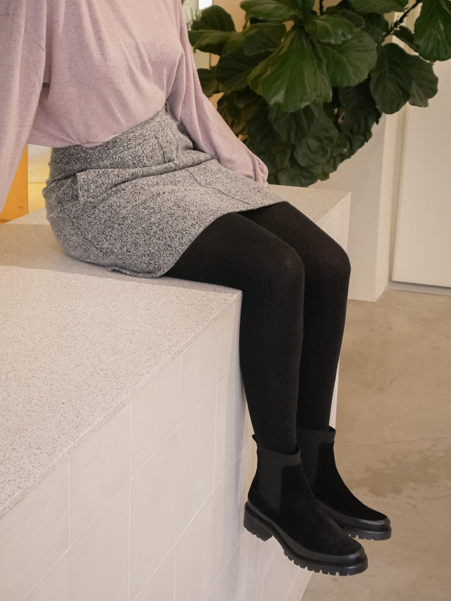 Eco Black Warm Tights