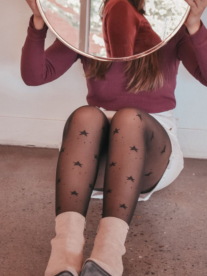Polka Dot Star Tights