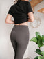 Slimming High-Rise Grey Leggings