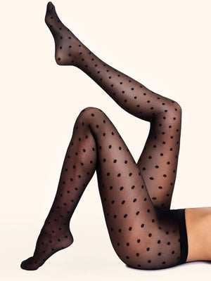 large polka dots tights - collant gros pois
