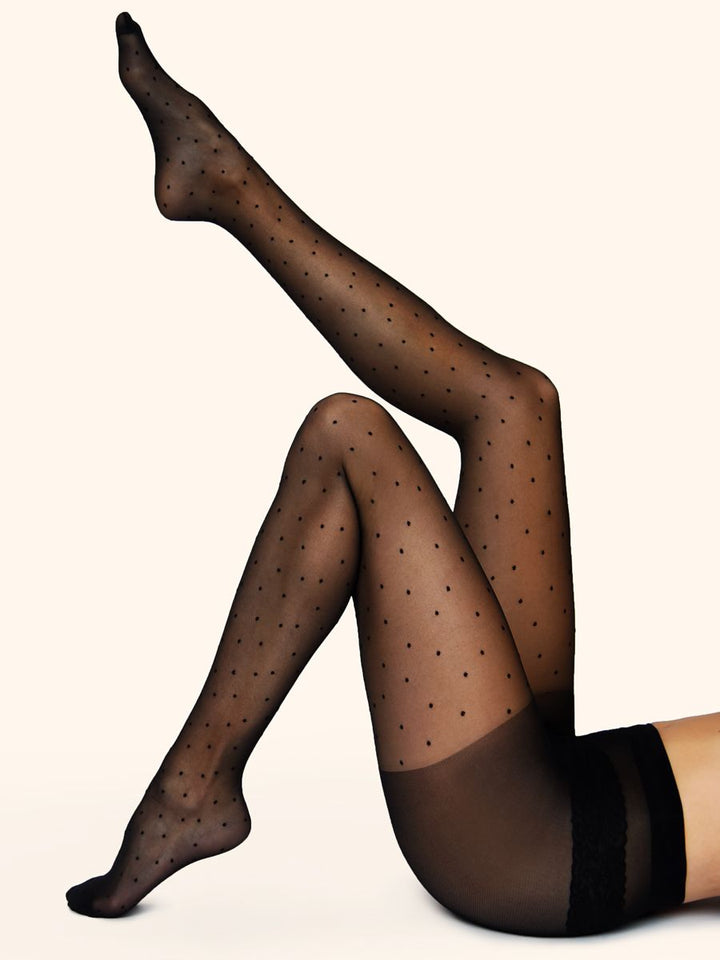 Black Dot Tights