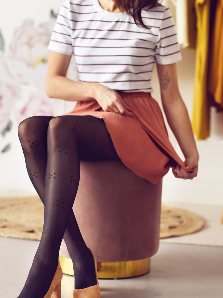 Tights with 5-Dot Print